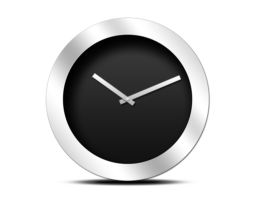 Modern-black-clock-icon